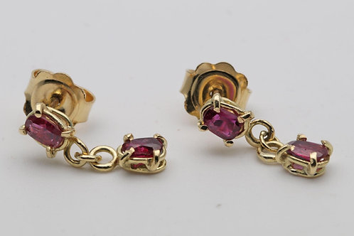 18ct Ruby ear rings