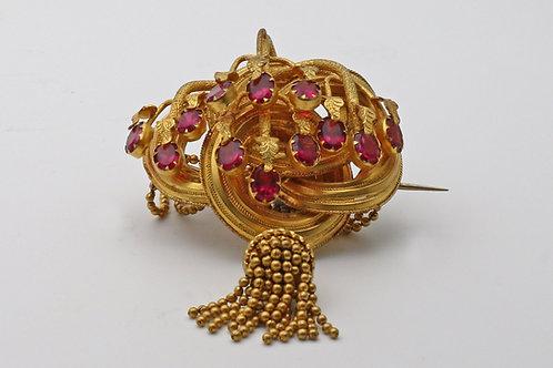 Victorian almandine garnet brooch