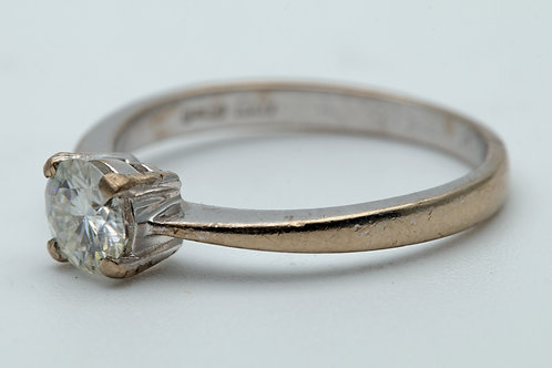 18ct White Gold Solitaire Ring