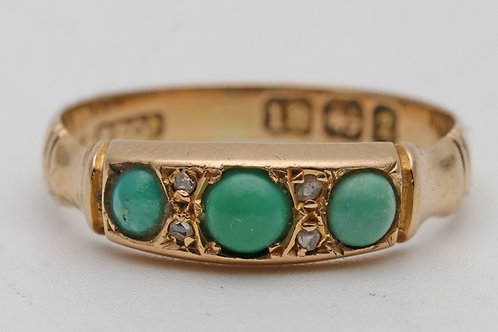 Victorian 18ct gold and turquoise ring