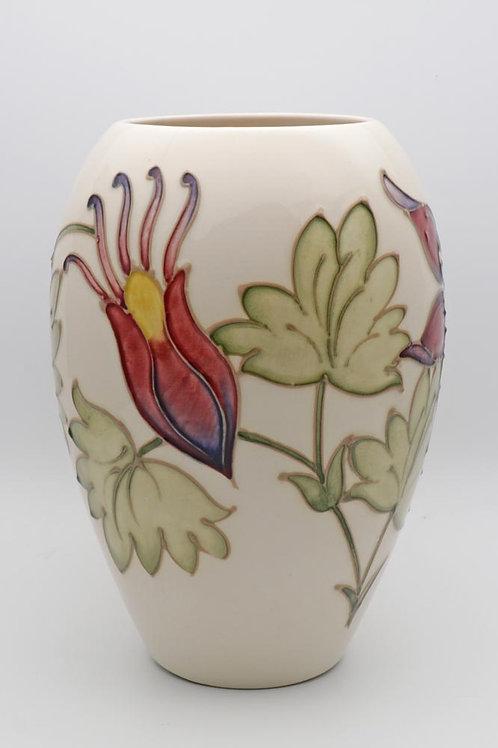 Moorcroft aquilegia vase