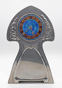 David Veasey pewter clock Liberty Tudric 0385