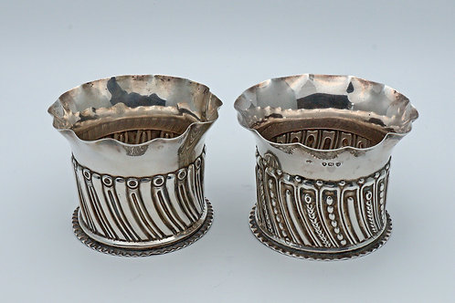 Two Victorian fluted silver pots