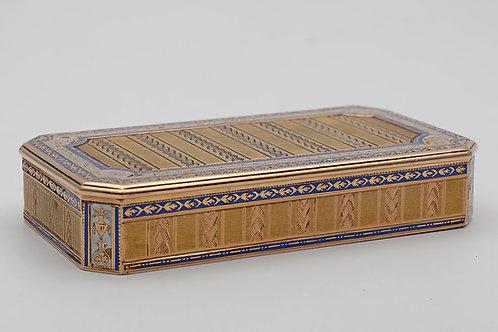 German 18ct gold and enamel snuff box c.1800