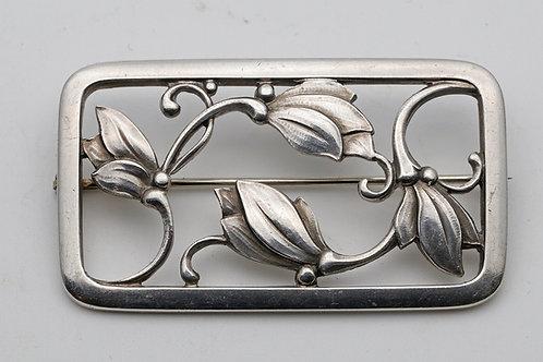 Georg Jensen silver brooch, unusual