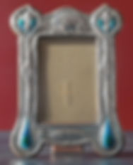 Arts & Crafts Silver and enamel photograph frame by Deakin & Francis.