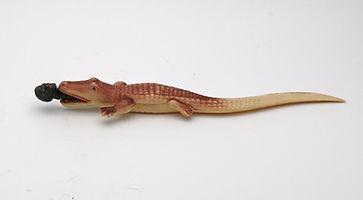 143037 Vintage celluloid alligator lette