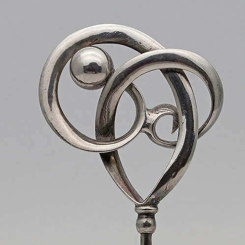 Charles Horner silver Art Nouveau hatpin