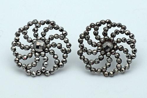 Victorian cut steel ear rings