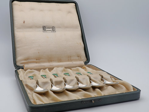 Liberty & Co Silver and Enamel Spoons