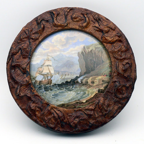 Pratt pot lid 'The Chin-Chew River'