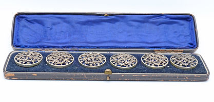 143217 Set of six large silver buttons.j