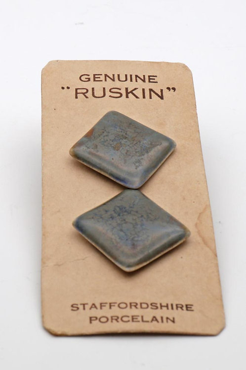 Ruskin pottery on cards