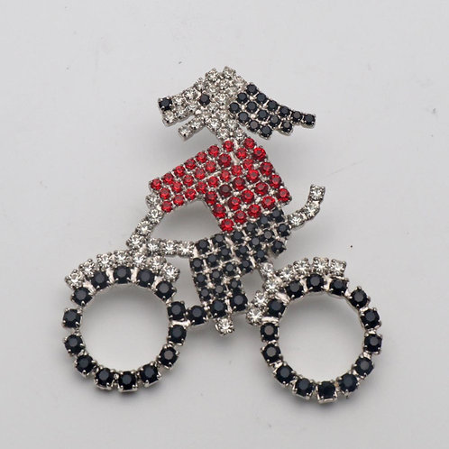 Butler and Wilson dog brooch