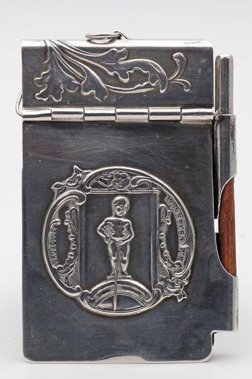 Art Nouveau silver dance card