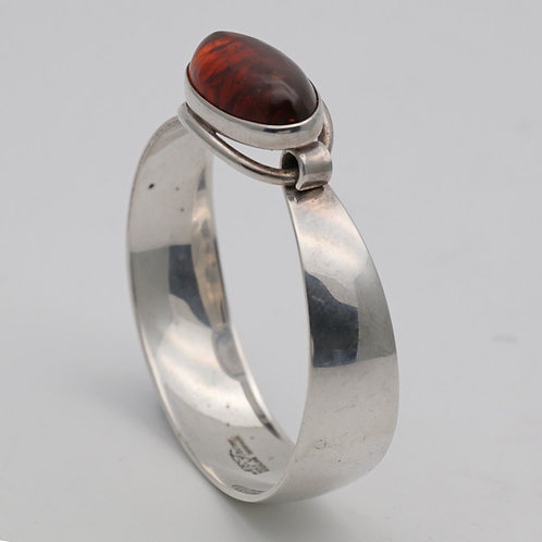 Silver and amber bangle,  Niels Erik From