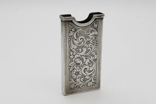 Victorian silver visiting card holder