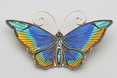David-Andersen silver and enamel butterfly  brooch