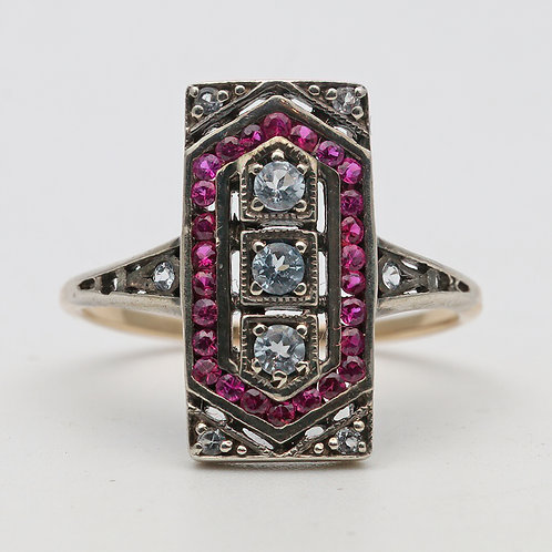 18ct ruby Art Deco ring