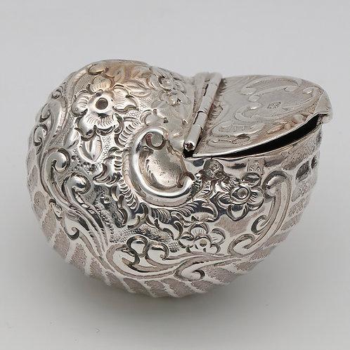 19th Century silver novelty snuff box