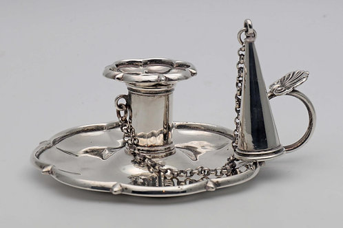 Georgian silver candle holder
