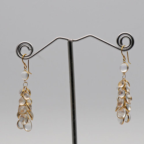 Moonstone gold ear rings