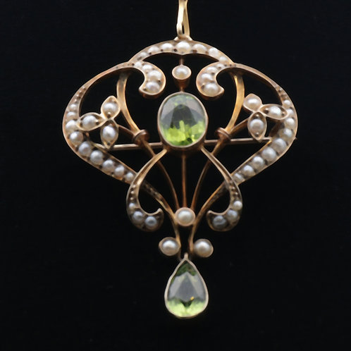 Art Nouveau gold pendant/brooch