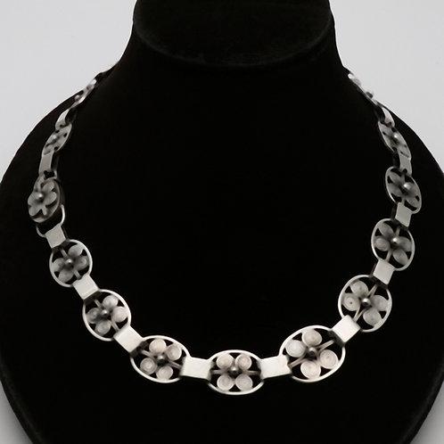 Julius Klagenborg silver necklace 1960s