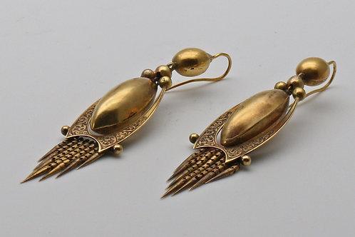 Victorian tassel drop ear rings