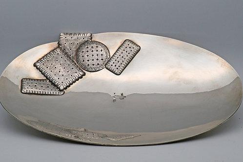 Turkish silver biscuit dish