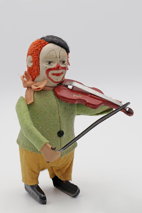 Schuco clockwork toy of violin player