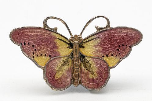 Vintage Norwegian butterfly brooch
