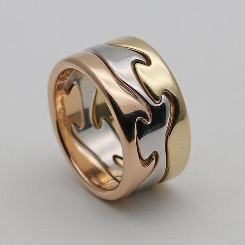 Georg Jensen gold 'Fusion' ring