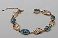 Murrle Bennett turquoise gold bracelet.
