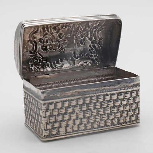 Victorian dome topped silver casket