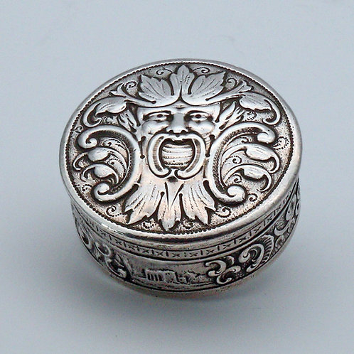 Late 19th century German silver pill box