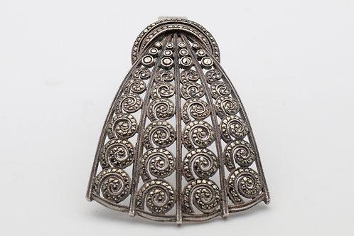 Art Deco Theodor Fahrner Silver Clip