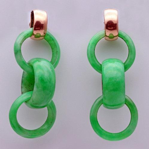 Antique Jadeite ear rings