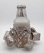 Silver trompe-l'œil vodka set, St Petersburg 1895
