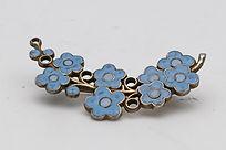 Anton Michelsen silver and blue enamel brooch.  £50