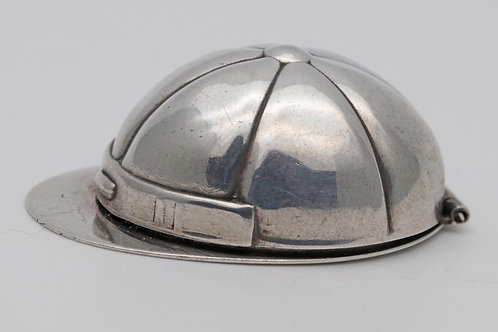 Jockey hat silver box