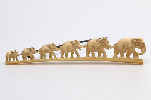 Victorian ivory elephant brooch