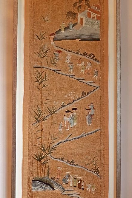 Antique Indian Gara textile
