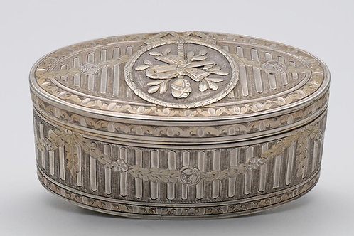 Louis XV French silver snuff box