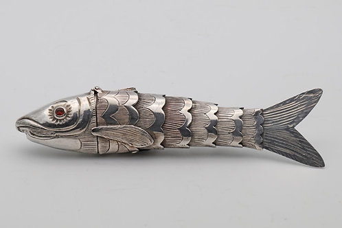 Antique 19th Century Silver Fish