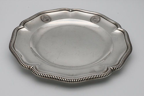 Belgian silver plate from the Emperor Haile Selassie dinner service