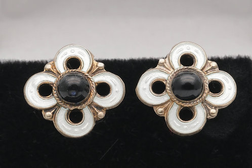 David Andersen Norwegian silver earrings