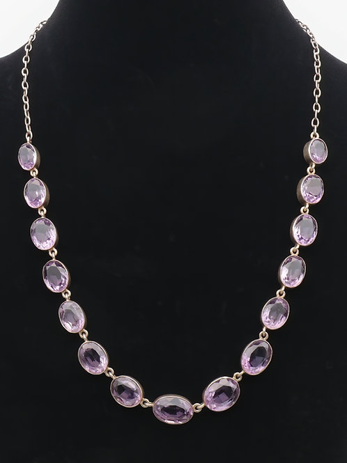 Early 20th century amethyst necklace
