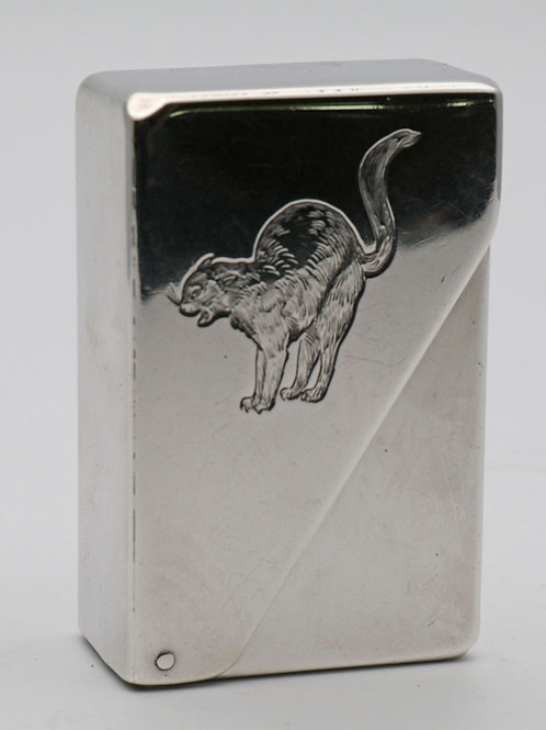Hinged Silver Matchbox Holder