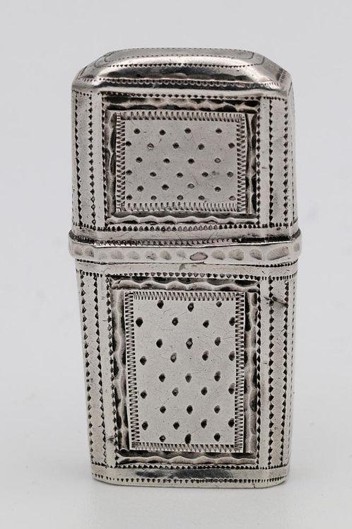 Georgian silver needlecase